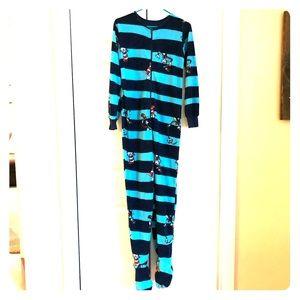 Dr Seuss Cat in the Hat fleece onesie pajamas